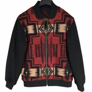 Pendleton Wool Aztec Patterned Bomber Jacket